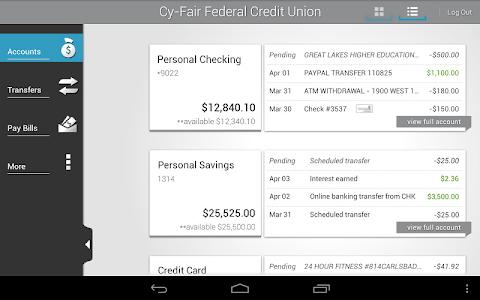 Cy-Fair FCU Mobile Banking screenshot 5