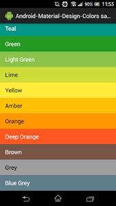Material-Design-Colors screenshot 1