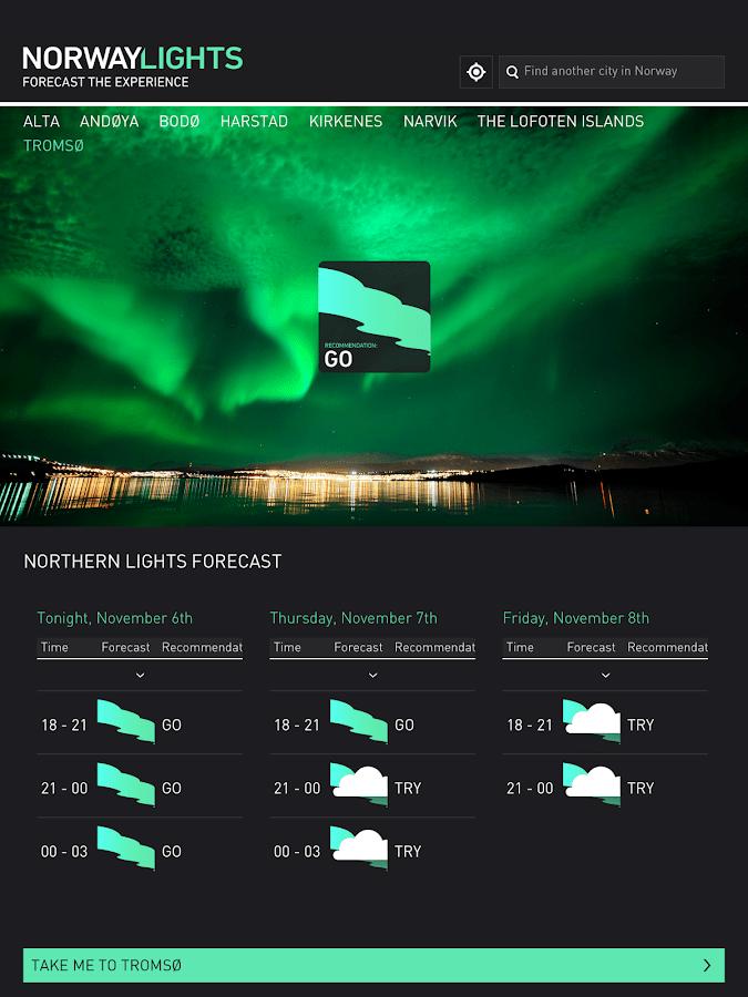 Northern Lights Forecast App
