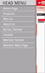 Techcom Mobile Web screenshot 1