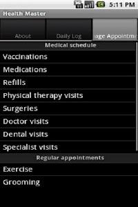 Health Master Free screenshot 1