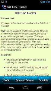 Call Time Tracker+Call Blocker screenshot 7