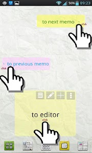 Scroll Memo Note Widget Lite screenshot 1