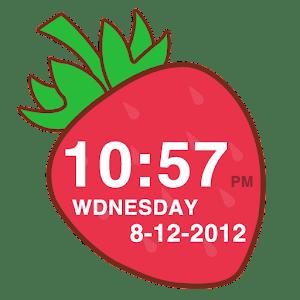 Strawberry Clock Widget