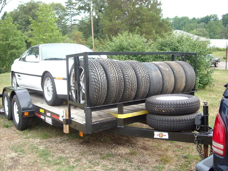 made a tire rack for my utility trailer mr2 owners club forum