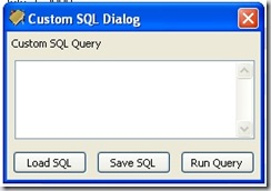 Custom SQL Dialog of Money Manager Ex