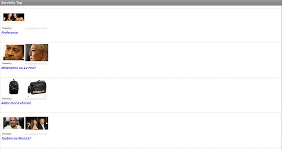 Vote - Sondage Tablette screenshot 1