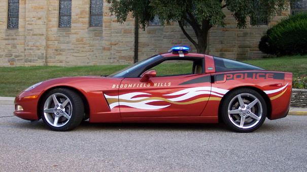 corvette police car