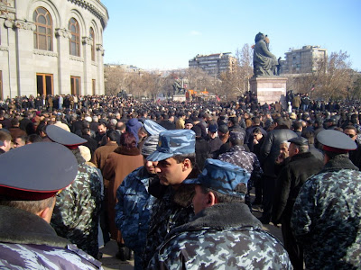 Opposition rally in the Freedom Square, Yerevan, 2008