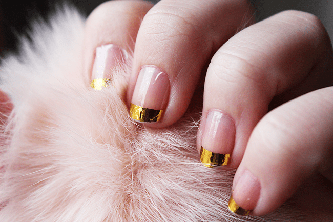 NOTD: gold French mani