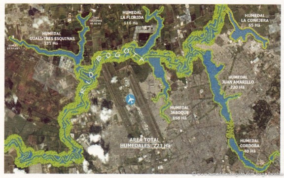 Interconectividad ecológica de humedales y Río Bogotá