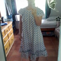 Tropical dreams inspired by Folkwear's Beautiful Dreamer nightgown
