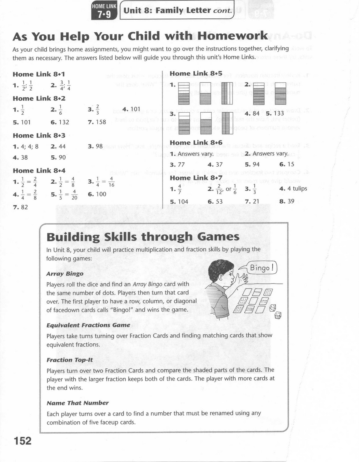 Omega Unlimited Parents Crib Sheet For Fractions