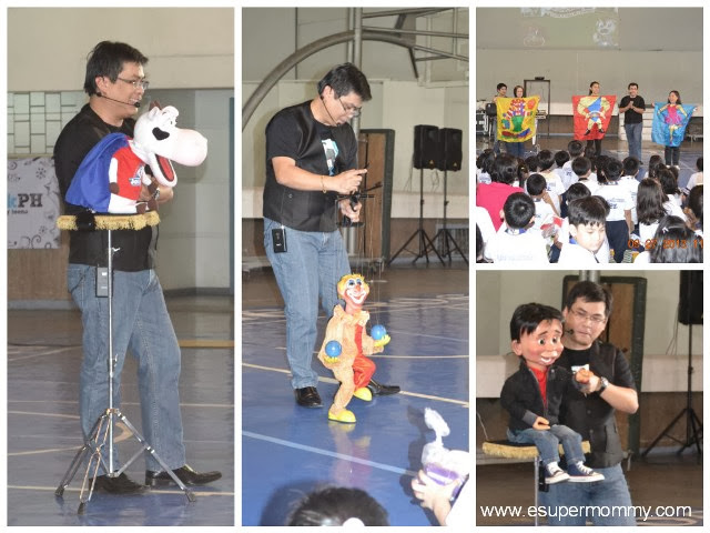 Wanlu Puppets in Jolly Cow Fresh Milk event