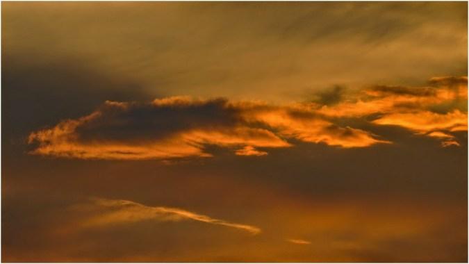 Fiery sky over Primorsko