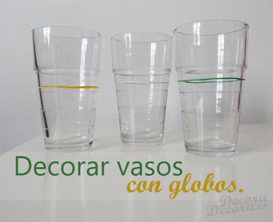 Decorar vasos.