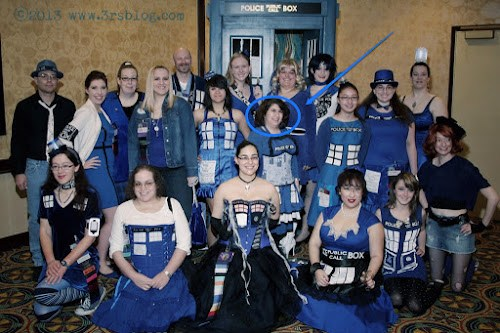 TARDIS Cosplayers at Gallifrey One (photo by Paul Vasquez) www.3rsblog.com