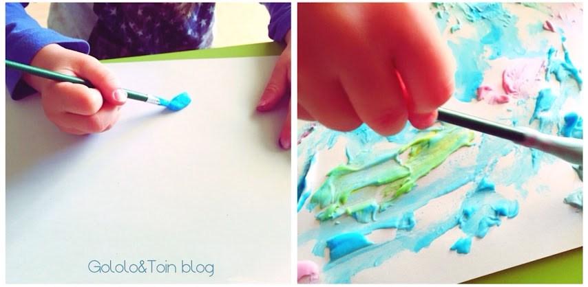 pintar-texturas-pintura-colorante-alimentario-espuma-afeitar-niños-manualidades-diy