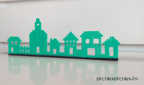 Decorar con un pueblo de Hama Beads