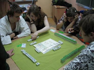 grają w mahjonga
