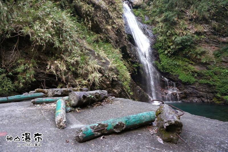 走高橋務必小心,快到神山瀑布前的必經路程