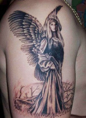 angel tattoos on arm