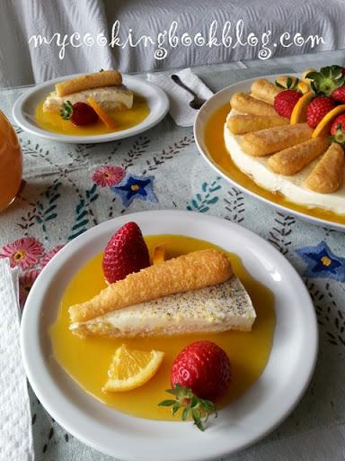 Десерт с панакота ягоди и портокали