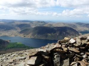 Mellbreak and Crummock Water from Grasmoor summit