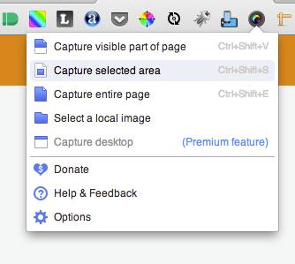 Aplikasi pilihan untuk web designer: Awesome Screenshot