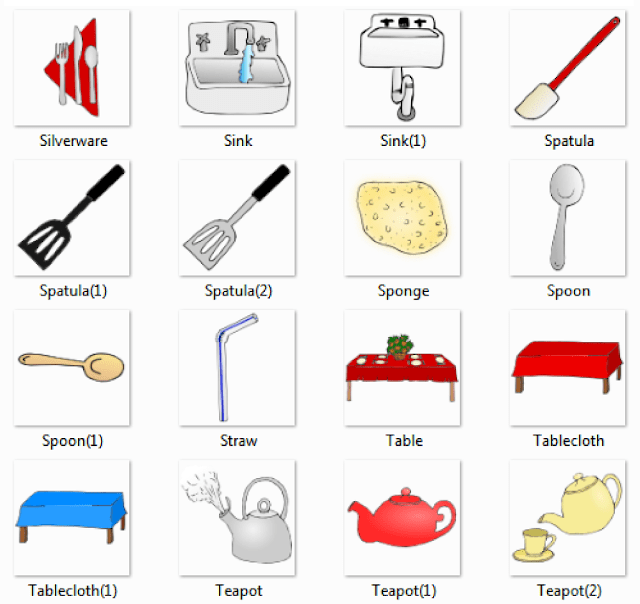 kitchen pictures and list of kitchen utensils with picture and names rh kidspicturedictionary com list of kitchen items in marathi list of kitchen items in tamil