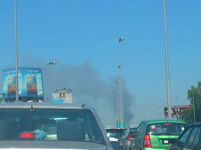 Smoke from Persiaran Surian