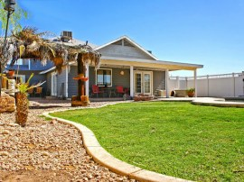 Wonderfully private landscaped backyard for horse property in San Tan Valley sitting on 2 acres