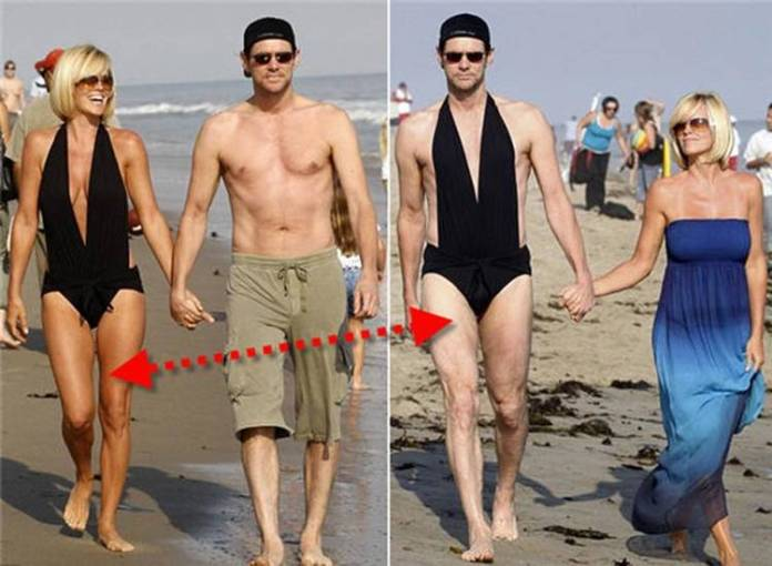 Jim Carrey en un día típico en la playa