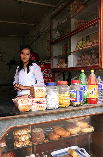 Shop girl in Nepal