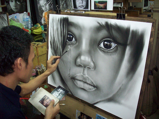 Painting cry