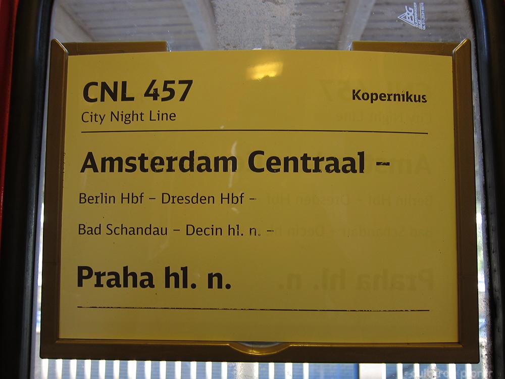 Amsterdam Praha Train