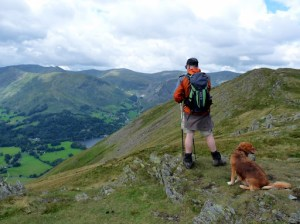Looking to Helvellyn and Catstycam