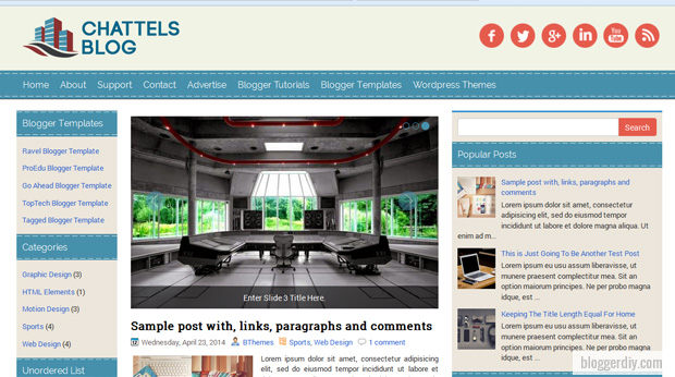 Chattels Blog Blogger template