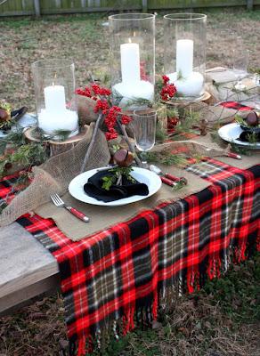 Mesa de exterior para otoño.