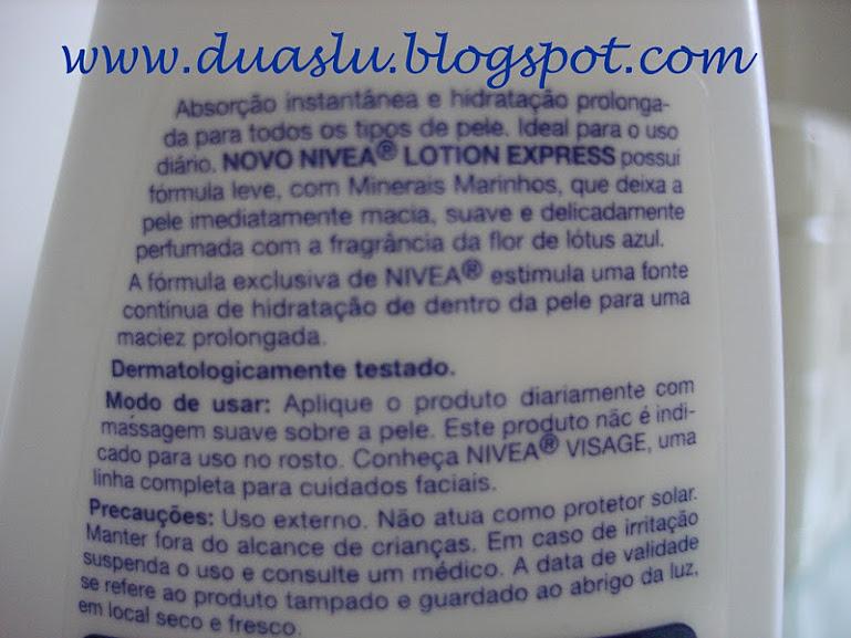 Resenha: Nivea Lotion Express