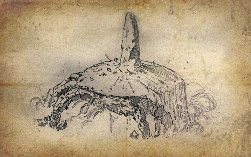 Ilustración de un atronador de arena