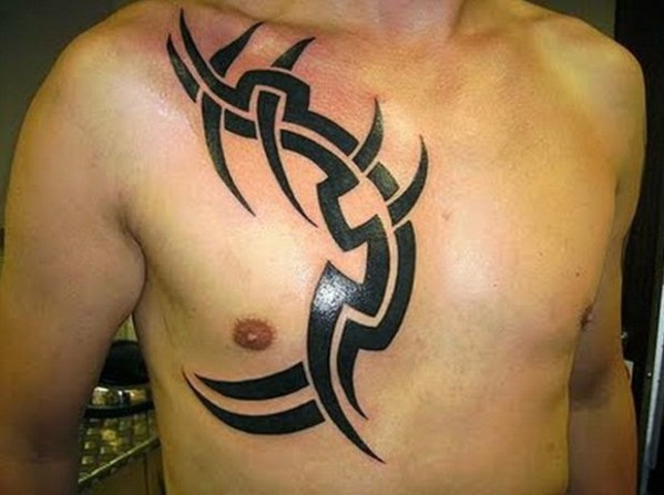 tribal chest Tattoos