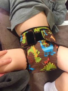 how I made a serged cloth pocket diaper with Pul exterior