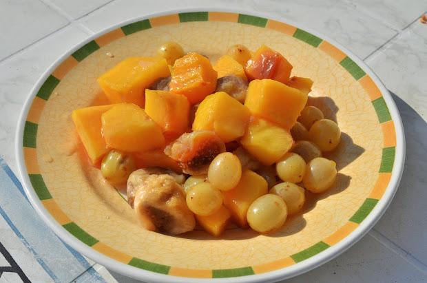рецепт тыквы с фруктами в духовке
