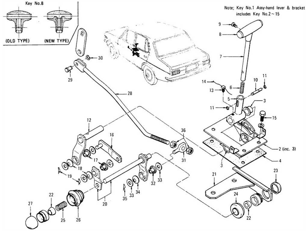 Datsun Transmission Control Floor Shift Type Automatic