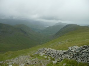 Hartsop Dodd Ullswater and Gray Crag from descent of Thornthwaite Crag