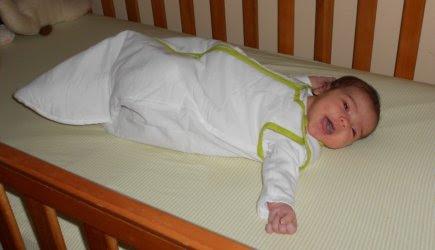 Baby Clara in her Baby DeeDee Sleep Nest