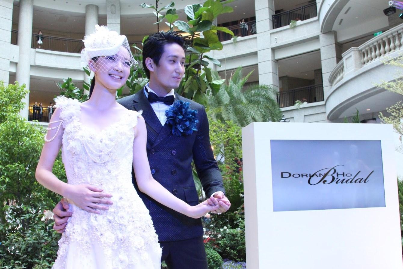 *BELLAVITA 2013春夏聯合新品發表會:Janet 一襲低胸寶藍洋裝「漫步春天」 3