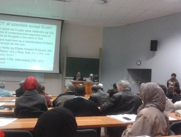 محاضرة عن اصل الكون في كيب تاون دكتور مرتضى علي ديني
