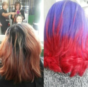 status hair salon crazy funky wild colors manila